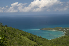 View of Caribbean from Tortola Stock Photo