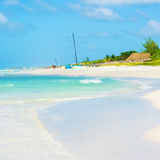 View of the caribbean Varadero beach in Cuba Royalty Free Stock Images