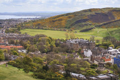 View from Carlton Hill to Edinburgh's outskirts Stock Photography