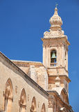 The view of Carmelite Church Bell Tower in Mdina. Malta Stock Images