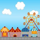 View of a carnival theme park. Vector illustration design stock illustration
