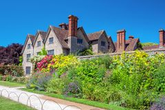 Walled Garden and Packwood House, Warwickshire, England. royalty free stock photo