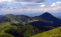 View of Carpathian mountains. View of beautiful Carpathian mountains Stock Photography