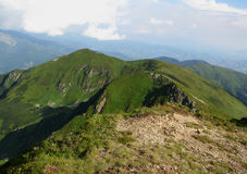 View of Carpathian mountains. View of beautiful Carpathian mountains royalty free stock image