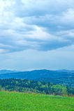 View on the carpathian mountains. In the spring royalty free stock photography