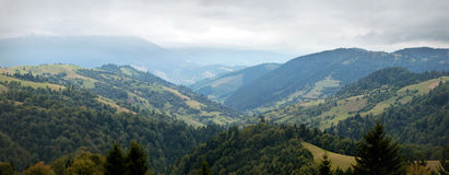 A view of the Carpathian Mountains Royalty Free Stock Images