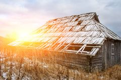 View on the carpathian pinewood house. A View on the carpathian pinewood house Stock Image
