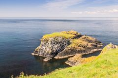 The view from Carrick-a-Rede island, County Antrim, Northern Ireland royalty free stock photography