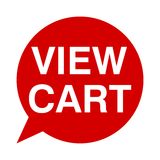 View cart, Speech Bubbles Royalty Free Stock Photo
