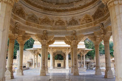 View of the carved dome at Royal cenotaphs in Jaipur, Rajasthan, Royalty Free Stock Images