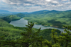 A View of Carvins Cove from the Appalachian Trail. A view of Carvins Cove located in Carvins Cove Natural Reserve from the Appalachian Trail, Botetourt County Royalty Free Stock Image