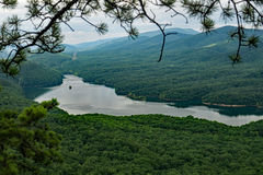 A View of Carvins Cove from the Appalachian Trail. A view of Carvins Cove located in Carvins Cove Natural Reserve from the Appalachian Trail, Botetourt County royalty free stock photography