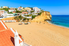 A view of Carvoeiro beach Stock Images