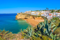 View of Carvoeiro fishing village Stock Images