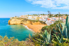 A view of Carvoeiro fishing village Stock Photos