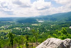 View of Caryville Tennessee from a Ridge royalty free stock photo