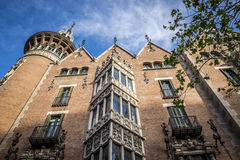 View of Casa de les Punxes by Josep Puig i Cadafalch in Barcelon Stock Photography
