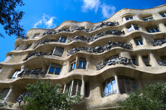 View on Casa Mila Stock Images