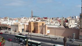 View of Casablanca, Morocco. United Nations Square in Casablanca, Morocco, North Africa stock video