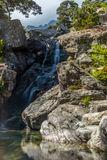 View of the Cascade des Anglais in Vizzavona Royalty Free Stock Image