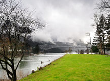 A view from Cascade lock Marin Park Royalty Free Stock Photography