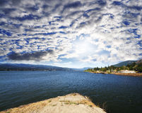 A view from Cascade lock Marin Park Royalty Free Stock Images