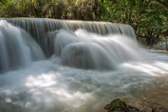 View of Cascades in Kuang Si Royalty Free Stock Images