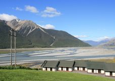A view of Cass Valley, New Zeaand. A view of Cass Valley, New Zealand Royalty Free Stock Photo