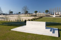 View of Cassino War cemetery. Cassino War Cemetery is a military cemetery in Cassino (Italy) resting place of the fallen soldiers of the Commonwealth countries stock images