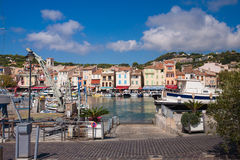 View on Cassis harbour Stock Images