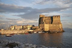 View of Castel dell Ovo stock image