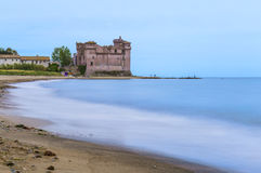 View of Castel of Pyrgi to Santa Severa in Italy Royalty Free Stock Image