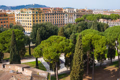 View from Castel saint Angelo, Rome, Italy Royalty Free Stock Images