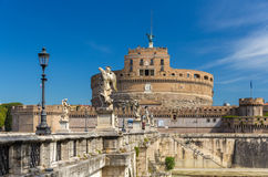 View of Castel Sant'Angelo in Rome, Italy Royalty Free Stock Photography