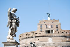 View of Castel Sant'Angelo Rome, Italy Stock Images