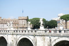 View of Castel Sant Angelo in Rome, Italy Stock Images