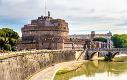 View of Castel Sant'Angelo in Rome Royalty Free Stock Photos