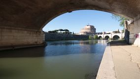 Castel Sant`Angelo, Rome, Italy. A view of Castel Sant`Angelo, Rome, Italy stock video footage