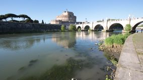 Castel Sant`Angelo, Rome, Italy. A view of Castel Sant`Angelo, Rome, Italy stock video