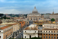 The view from Castel Sant'Angelo towards Vatican City, Rome Royalty Free Stock Photo