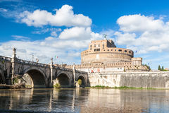 View of Castel Sant'Angelo, also known as Mausoleum of Hadrian, in Rome Stock Photo