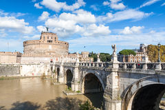 View of Castel Sant'Angelo in Rome Stock Photography