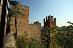 View of castell'arquato. A beautiful town in Italy stock photo