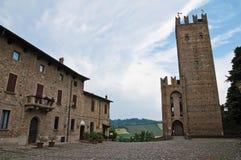 View of Castell'arquato. Emilia-Romagna. Italy. Stock Image
