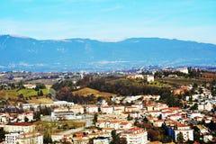 View from the Castello on Colle di Giano, Conegliano Veneto Stock Photos