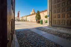 View of the Castello square from Palazzo Reale Royalty Free Stock Photo