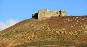 Castillo de Santa Bárbara on Mount Guanapay, Lanzarote, Canary Royalty Free Stock Photography