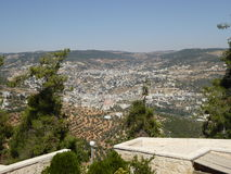 View from The castle of Ajloun. Known as Qalat Al-Rabad by its local and original name; is an Ayyubid castle that stands atop Jabal Auf, near Ajloun, in northern Royalty Free Stock Photography