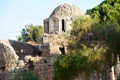 Alanya Castle. Tower, coast royalty free stock photo