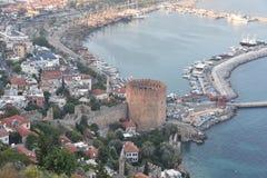 Alanya Castle. Tower, coast. royalty free stock photo